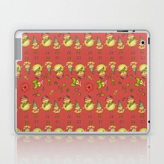 Two Chicks Pattern ~ Red Laptop & iPad Skin