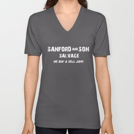 Sanford _ Son TV Show Retro Vintage 70s 80s Tee Fred Sanford 70s Unisex V-Neck