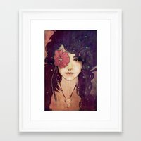 jenny liz rome Framed Art Prints featuring Liz by Megan Lara