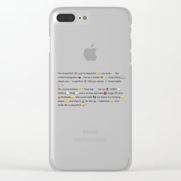 Aja - Linda Evangelista Clear iPhone Case