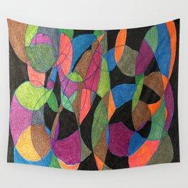 Intertwining Circles Wall Tapestry