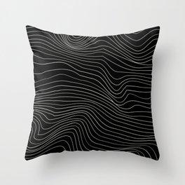 chasm 4_white on black Throw Pillow
