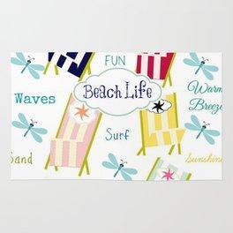 Ocean Way Royal - Beach Life - navy Rug