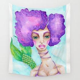 JennyMannoArt Watercolor Illustration/Mermaid Jenny Manno Wall Tapestry