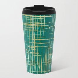 Crosshatch Green Travel Mug