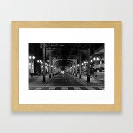 Chicago in the head lights Framed Art Print