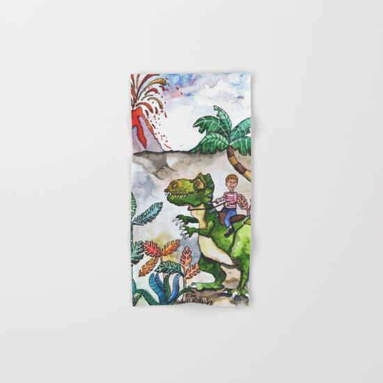 Dinosaur Rider Hand & Bath Towel