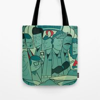 ghostbusters Tote Bags featuring Ghostbusters by Ale Giorgini