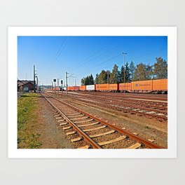 Summerau railway station | architectural photography Art Print
