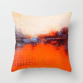 Orange and White Throw Pillow