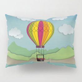 Balloon Aeronautics Sea & Sky Pillow Sham