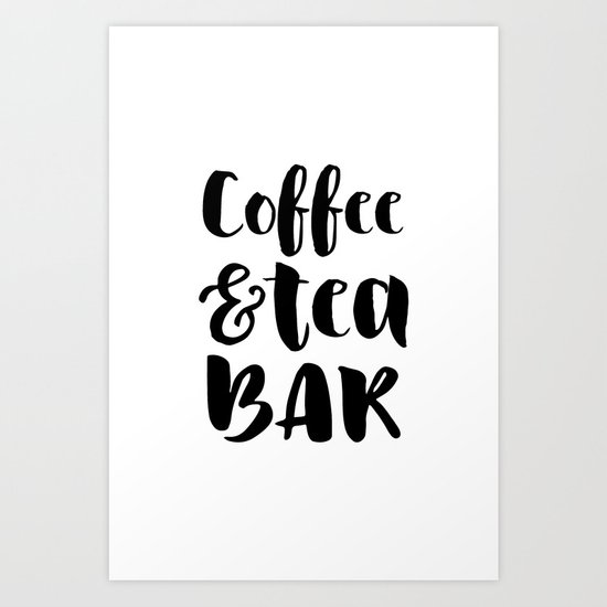Coffee and tea bar by summersunhomeart