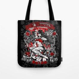 Wine Women & Sin Tattoo Girl Tote Bag