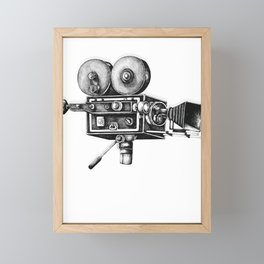 Awesome Distressed Film Video Camera Cameraman  Framed Mini Art Print