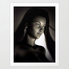 China Girl Portrait Art Print