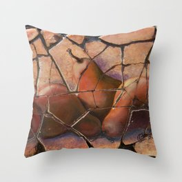The Pears Fresco With a Crackle Finish #Society6 Throw Pillow