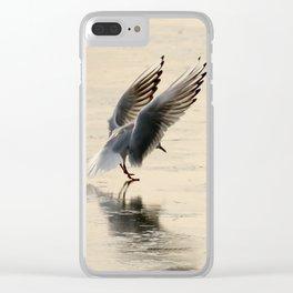 Slippery Landings Clear iPhone Case
