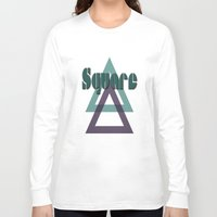square Long Sleeve T-shirts featuring Square by Herzensdinge