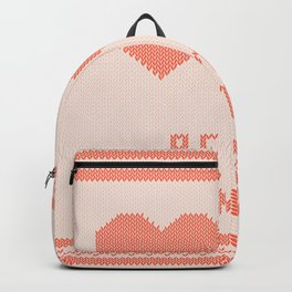Knitted background with hearts Backpack