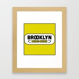 BKLYN 99 cool logo Framed Art Print