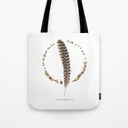 nature mandala... turkey feather, beechnuts, beechnut hulls Tote Bag