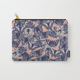 butterfly pale coral Carry-All Pouch