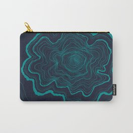 Tree Rings of Midnight Carry-All Pouch
