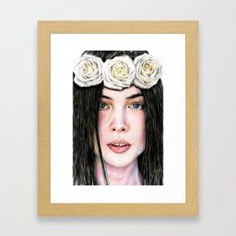 Three Roses Framed Art Print
