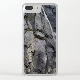 Aber Waterfall mimetolith Clear iPhone Case