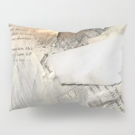 Too Soon | Collage Series 1 | mixed-media piece in gold, black and white + book pages Pillow Sham