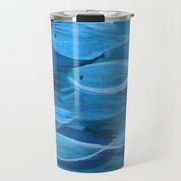 Shimmer Shoal in Blue Travel Mug