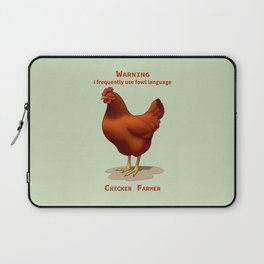 Funny Rhode Island Red Hen Fowl Language Chicken Farmer Laptop Sleeve