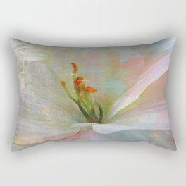 Painted Lily Rectangular Pillow