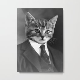 Gentleman Cat Metal Print