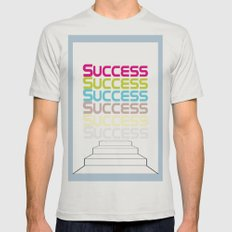 success Mens Fitted Tee Silver SMALL