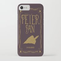 book cover iPhone & iPod Cases featuring Peter Pan Book Cover by Abbie Imagine