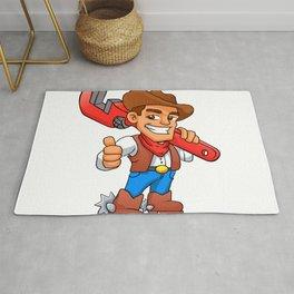 plumber cowboy Rug