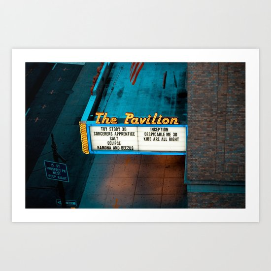 Night at the Movies Art Print
