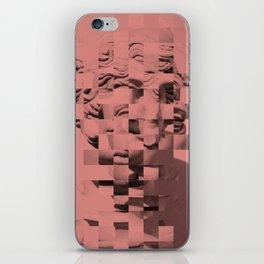 Pink sculpture iPhone Skin