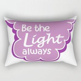 Be the Light Always Rectangular Pillow