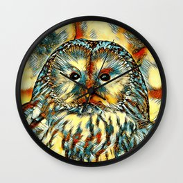 AnimalArt_Owl_20170922_by_JAMColorsSpecial Wall Clock