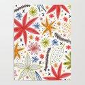 colorful funky floral pattern by staceywalkeroldham