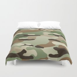 Military Camouflage: Woodland Duvet Cover