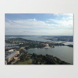 Thomas Jefferson Memorial As Seen From Top of Washington Monument, DC Canvas Print