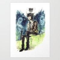 nico di angelo Art Prints featuring Nico Di Angelo - Son Of Hades by AkiMao