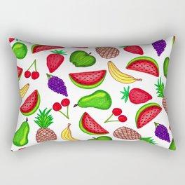 Tutti Fruity Hand Drawn Summer Mixed Fruit Rectangular Pillow