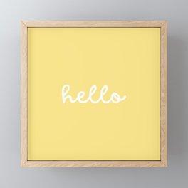 HELLO YELLOW Framed Mini Art Print