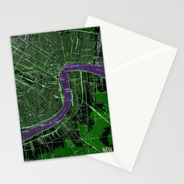 New Orleans Louisiana 1932 vintage old beautiful map Stationery Cards