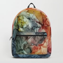Alcohol ink painting, Abstract painting Backpack