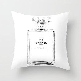 Fashion illustration sketch Throw Pillow